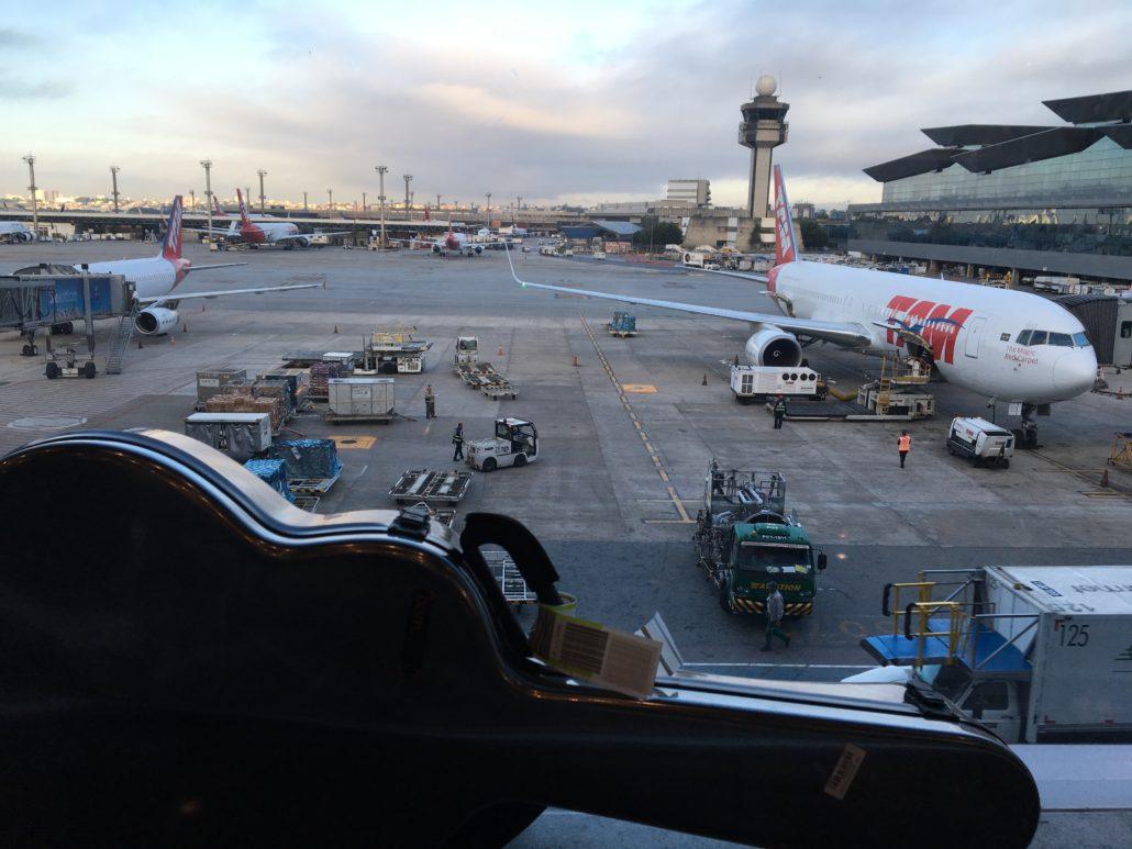 A flight change in Brazil