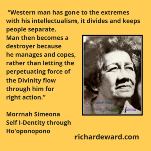 Morrnah Simeona photo with quotation about Ho'oponopono