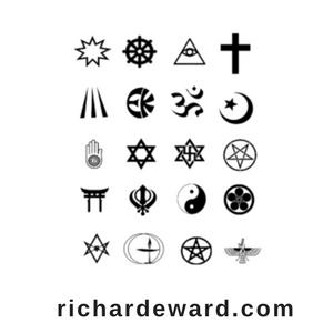 Religion. Religious symbols from around the world