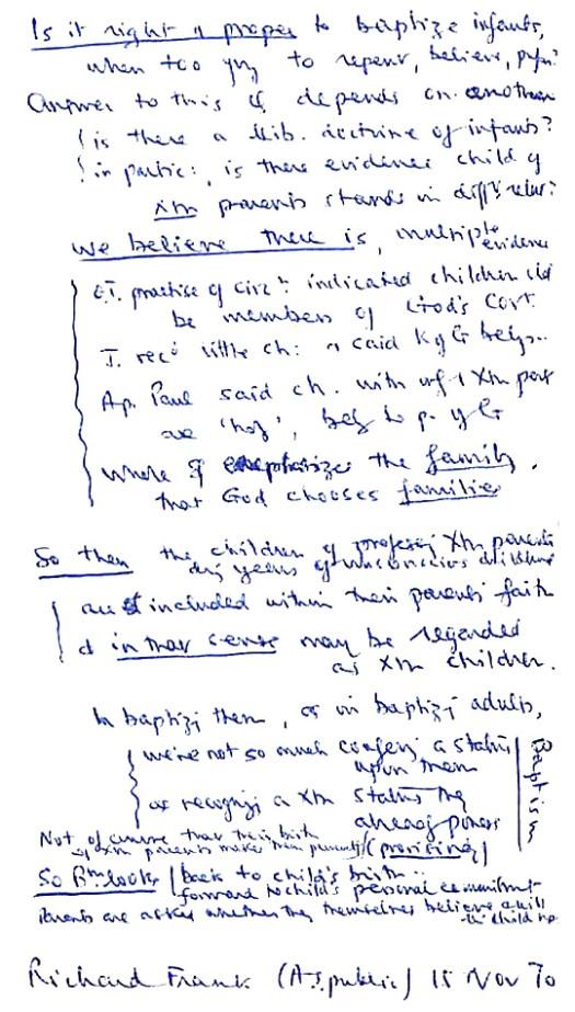 1970 11 Richard Frank Baptism - John Stott talk - for web