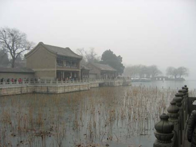 A misty morning at the Summer Palace in Beijing