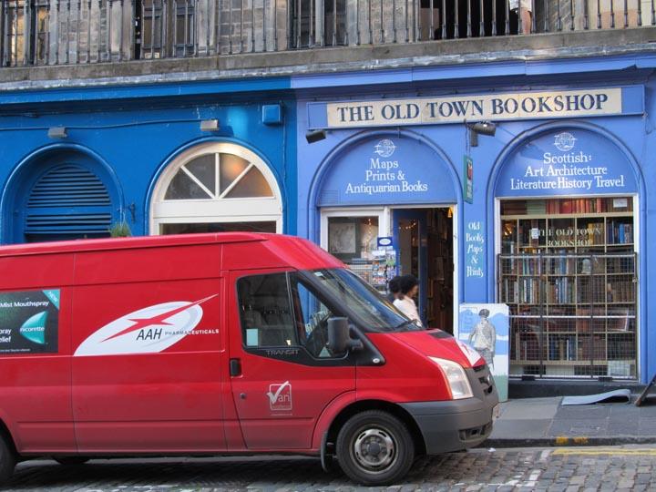 A bookshop in Edinburgh, Scotland, photographed in June 2012.