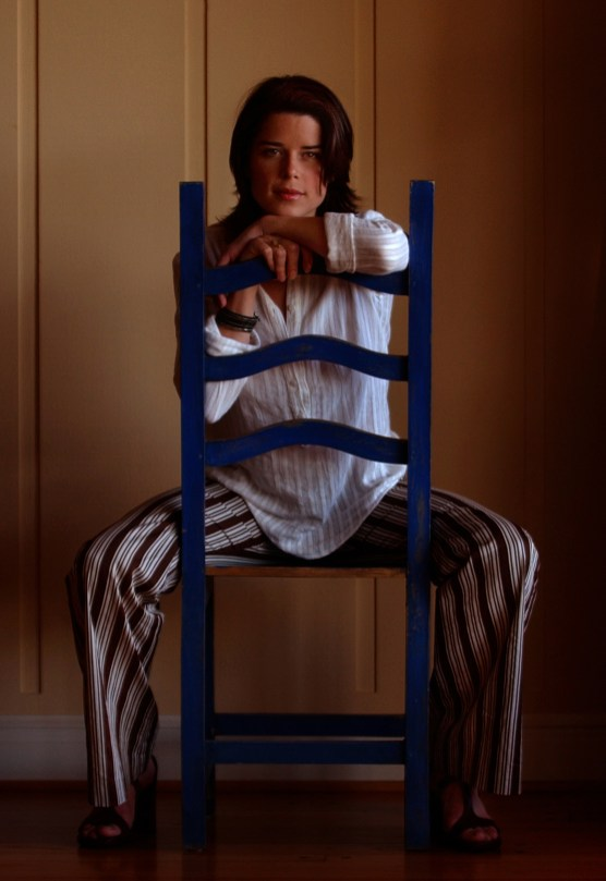 Actress Neve Campbell at her home, Wednesday afternoon in Mandeville Canyon. She was an early producer on the new Robert Altman film, The Company, about a dance company similar to the Joffrey.