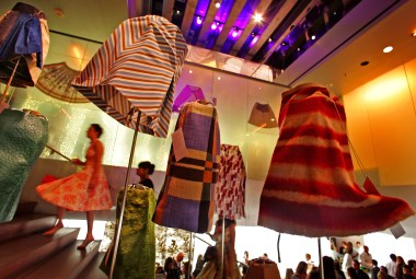 113032.CA.0713.et-prada.1-- A traveling exhibition of Miuccia Prada skirts at the Prada Epicenter store on Rodeo Drive in Beverly Hill, CA.
