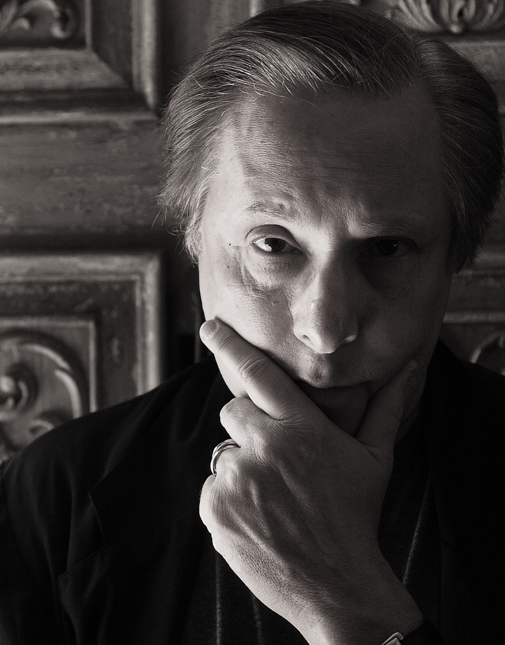 Award-winning movie director William Friedkin at his home, Saturday afternoon in Bel-Air. He is about to direct his second production for the Los Angeles Opera.