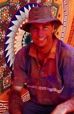 At Holi, festival of colours, Jaipur, India