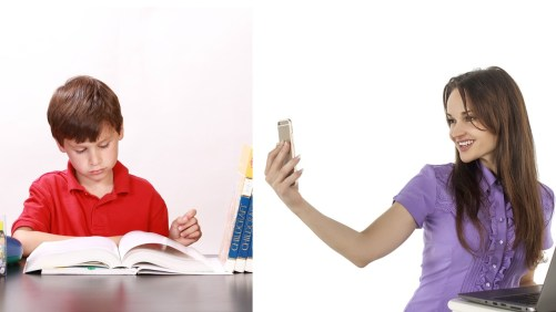 phone vs books