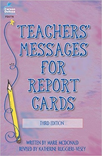 Teachers Messages for Report Cards