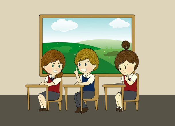 chatting in class