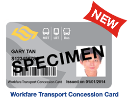 Workfare Transport Concession Card