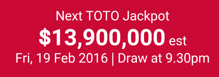 TOTO Hong Bao Draw 2016