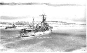 HMS Corunna and HMS Barrosa in the Moray Firth