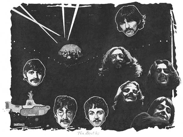 The Beatles: A Rock Act drawing by Richard Kennedy