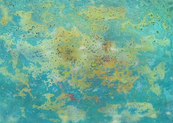 Incisive pond - original abstract painting by Dorset artist Richard Kennedy