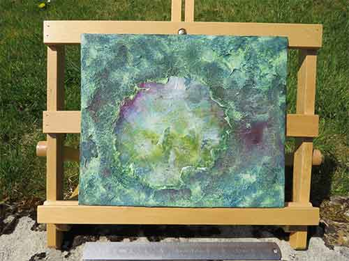Alpine abstract on easel by Richard Kennedy