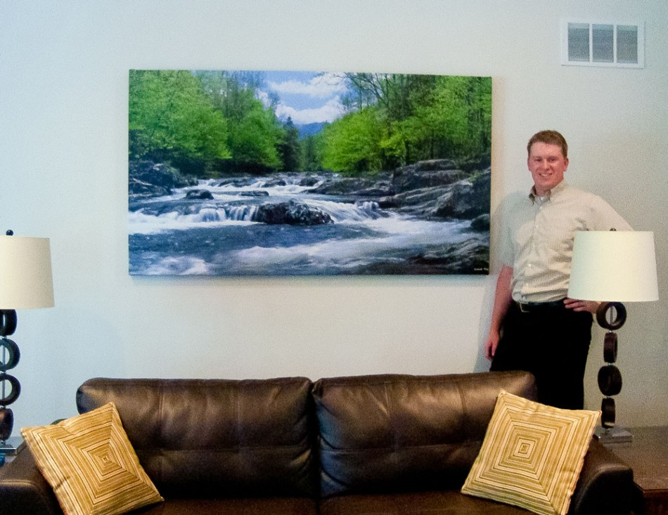 Large canvas 72 inches wide x 36 inches high - Great Smoky Mountains National Park