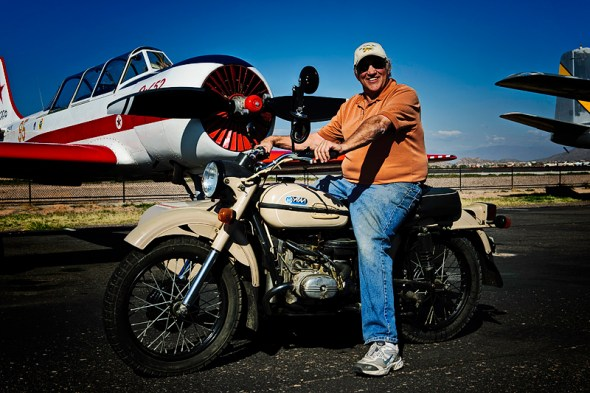 The Proud Owner astride his Ural