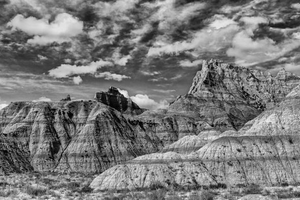 Badlands-National-Park-Interior,-SD-RKing-15-042416-BW-vv