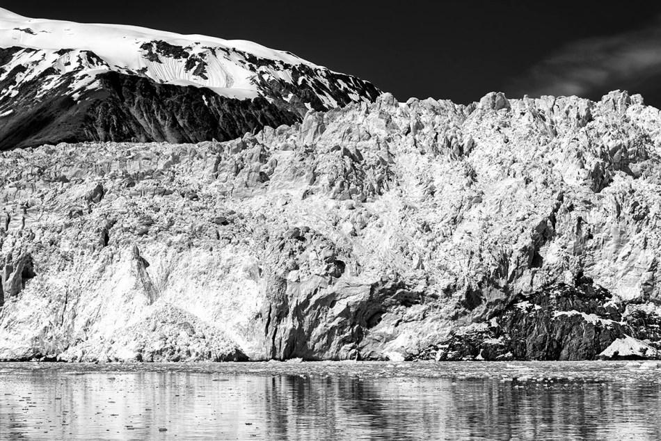 Aialik Glacier close up.
