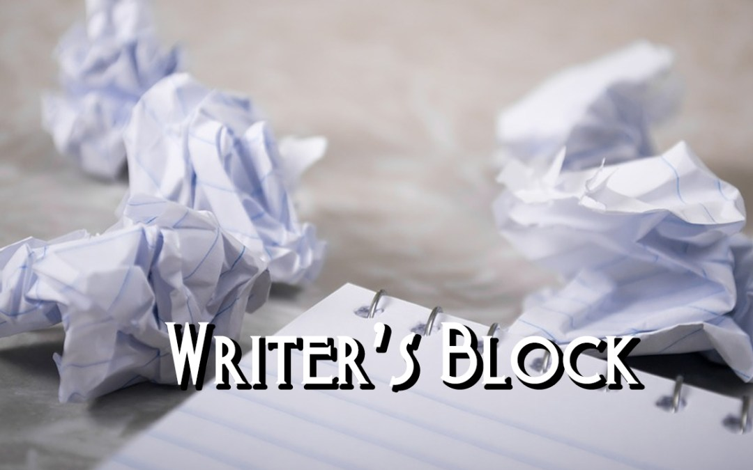 Writer's Block and crumpled pieces of paper