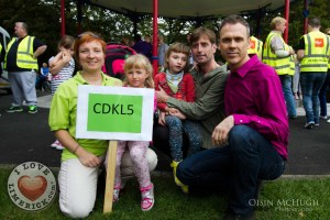 Richard Lynch pictured at last years CDKL5 Awareness Day 2014 with Jonna, Emma, Maia and Brendan Malone. Picture: Oisin Mc Hugh