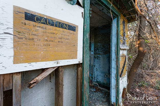PH-58 Nike Missile Base Ready Room Caution Signs by Richard Lewis