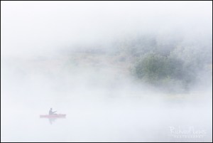 Misty Morning Fishing in the Delaware Water Gap by Richard Lewis