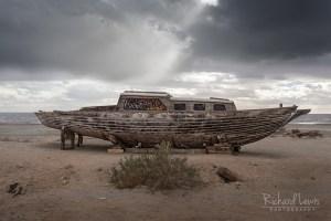 Abandoned Sail Boat on Bombay Beach