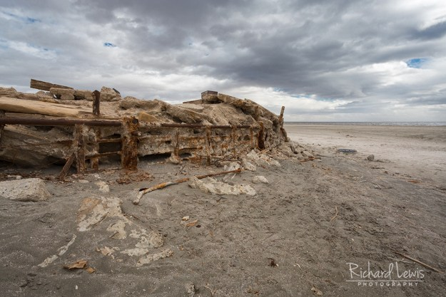 Abandoned Bombay Beach Pier by Richard Lewis
