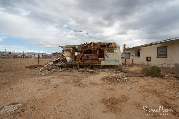 Bombay Beach Demolished Trailer by Richard Lewis