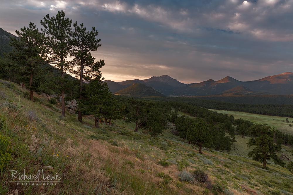 Morning Storm Approaching Estes Park Rocky Mountain National Park