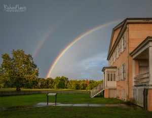 Rainbow Over Atsion Mansion in the Pine Barresns