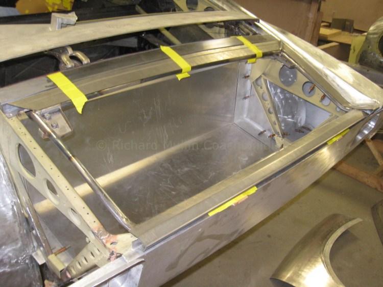 Lamborghini Miura Restoration Engine Lid Skin Fabrication