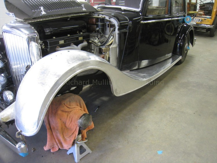 Derby Bentley Fender Construction