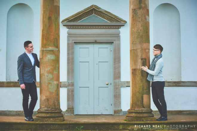 Engagement shoot in Hardwick Park