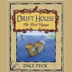 A book cover with a house boat adrift at sea, and the tail of a whale above the water in the background
