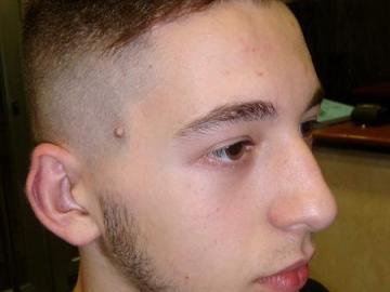 Corte de pelo degradación a navaja