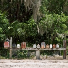 Mailboxes, Cross Creek, FL; 2008