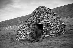 Stone Beehive Hut on Dingle Peninsula