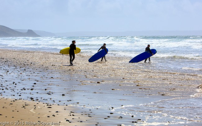 surfers in pembrokeshire