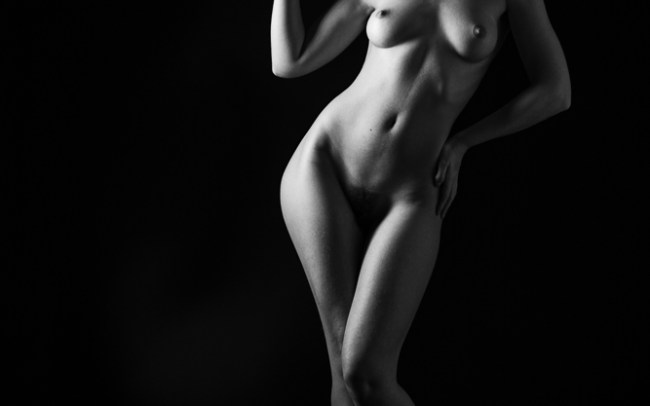 Fine art nudes - madame bink sun hat shapes