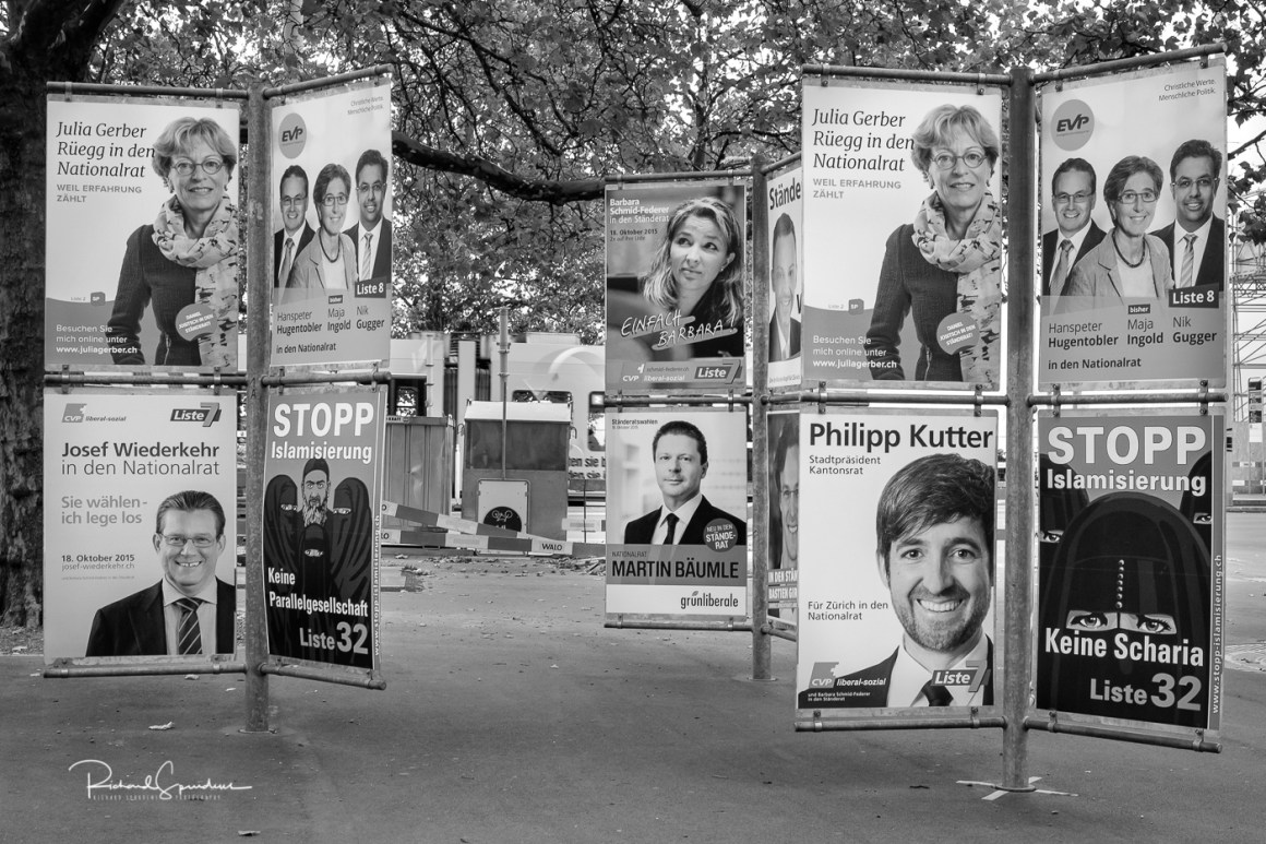 Zurich election adverts