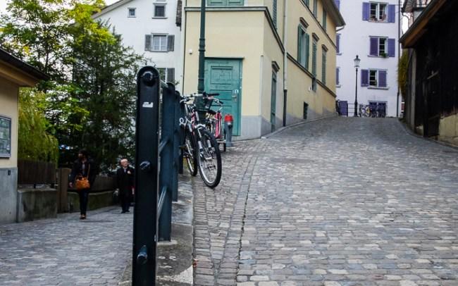 Zurich cobbled streets