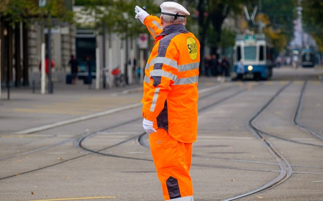 Zurich directing the trams