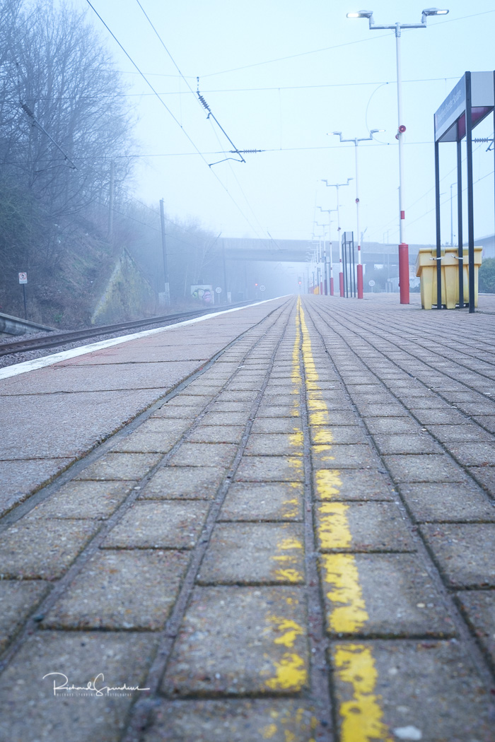 image shot at bradford foster square station on a mist april morning (april images)