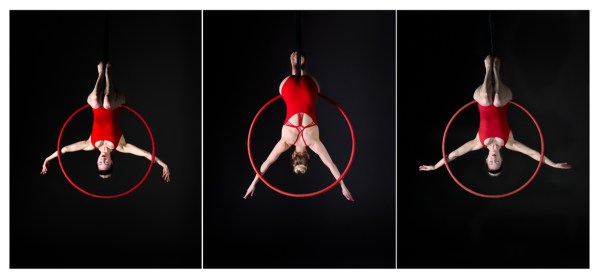 september print of the month aerial hoop triptych