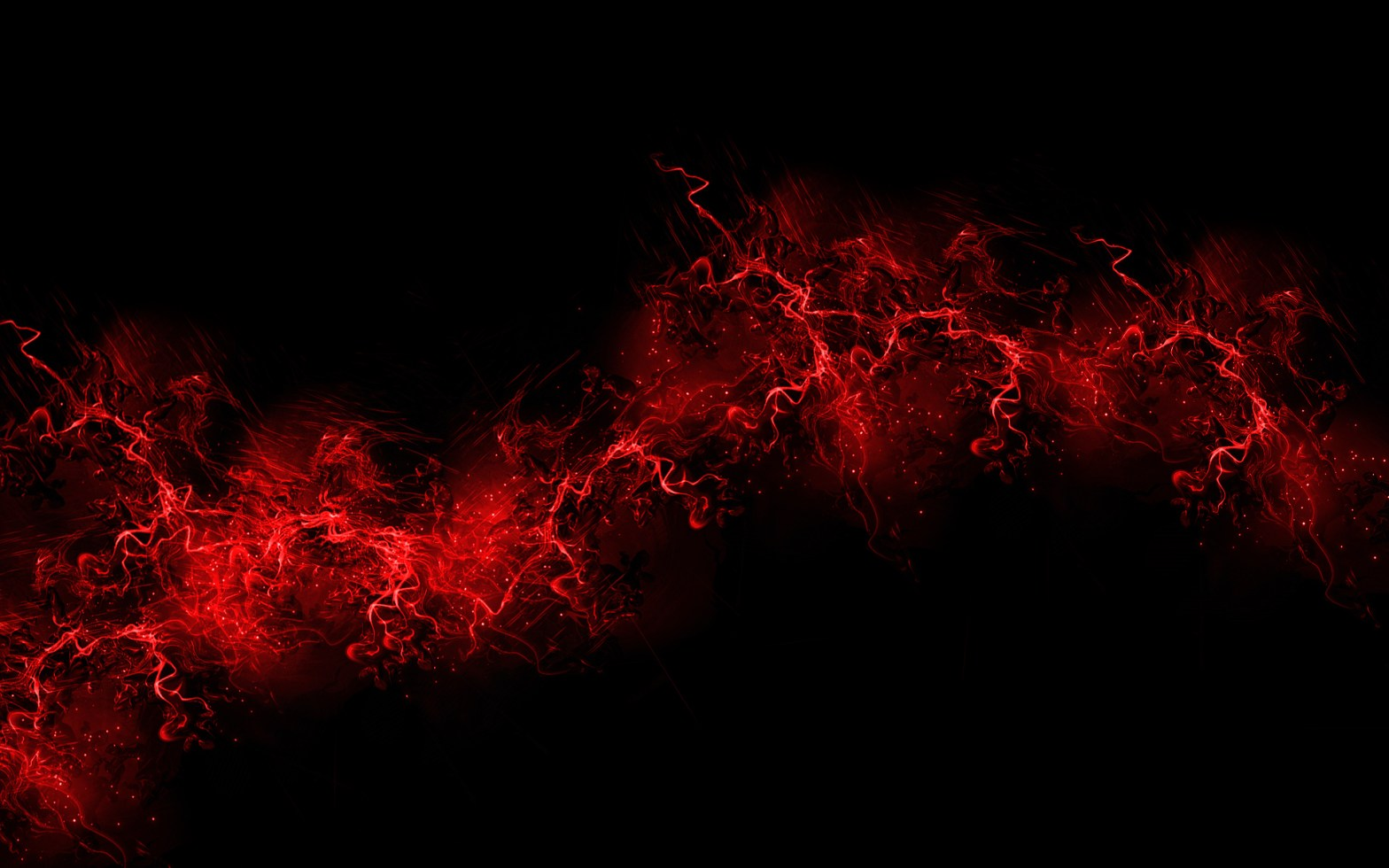 Red Flames on black background