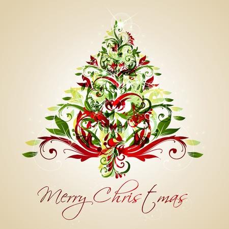 Merry Christmas Tree Card