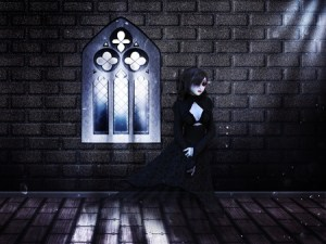 ghost in the haunted castle