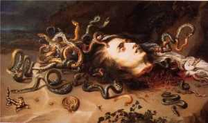 Medusa executed by Perseus
